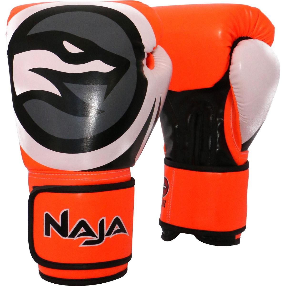 c684cb0f3 Luvas De Boxe Muay Thai Colors Fluor 12 Oz Laranja Naja - R  83