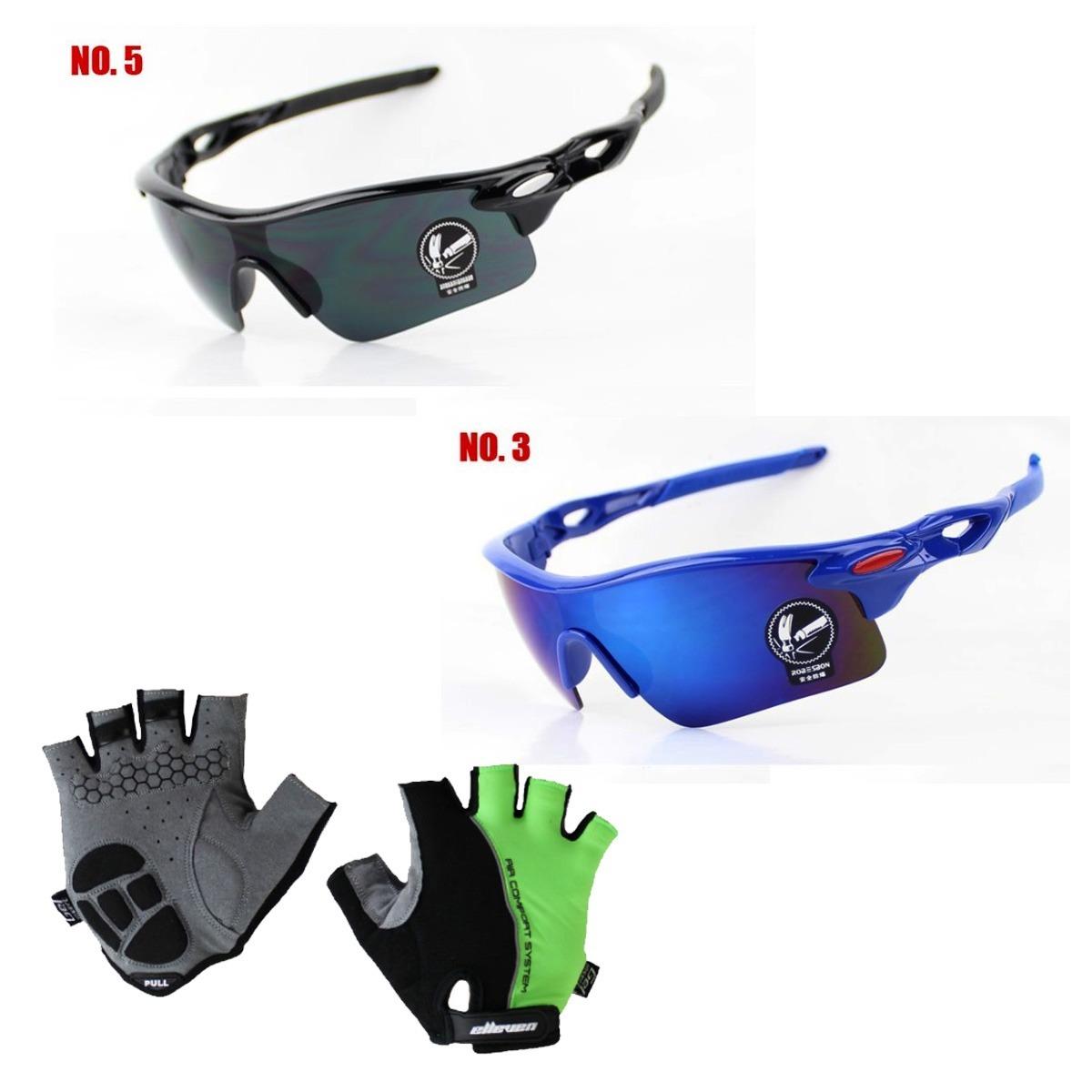 Luvas De Ciclismo +kit 2 Óculos Proteção Uv, Pedalar A Noite - R  75 ... dee9a04e68