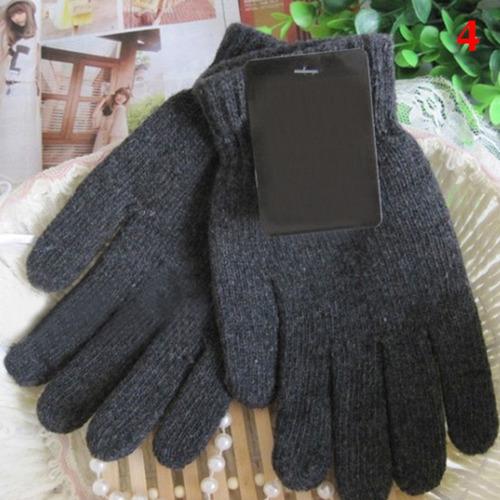 luvas de tricô crochê proteção frio homem mulher crianças lã