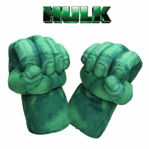luvas punhos mãos em espuma do incrível hulk vingadores
