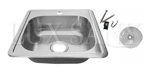 lux sany fregadero una tarja de acero inoxidable 48x48