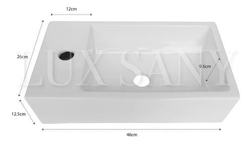 lux sany t146 lavabo cerámico rectangular sobreponer