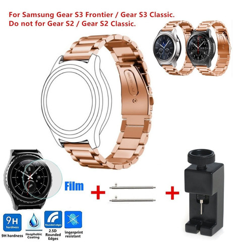 luxe de acero inoxidable reloj pulsera correa enlace para