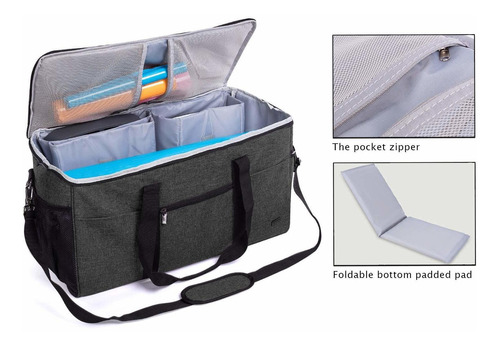 luxja - bolsa todo en uno para máquina troqueladora cricu