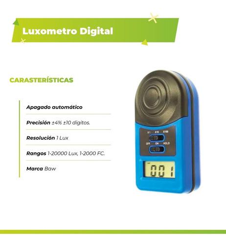 luxometro digital de mano 1-20000 lx1010a medidor luz baw