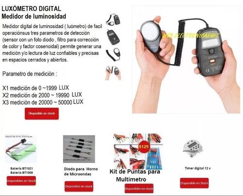 luxometro digital medidor de luminosidad hasta 50000 lux