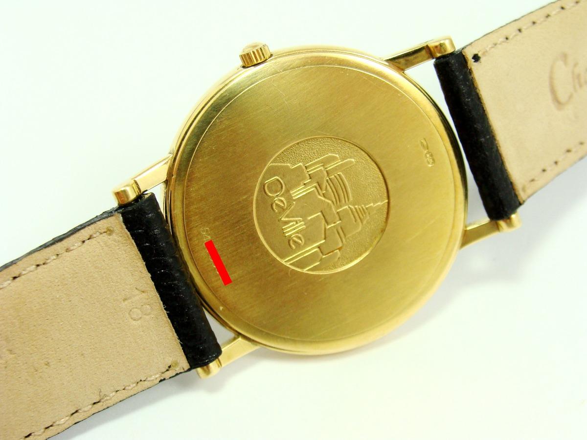 5d2c41858f9 luxuoso omega de ville ouro 18k maciço black perfil baixo! Carregando zoom.