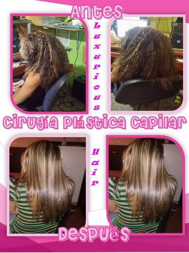 luxurious hair. cirugía plástica capilar kit  litro.