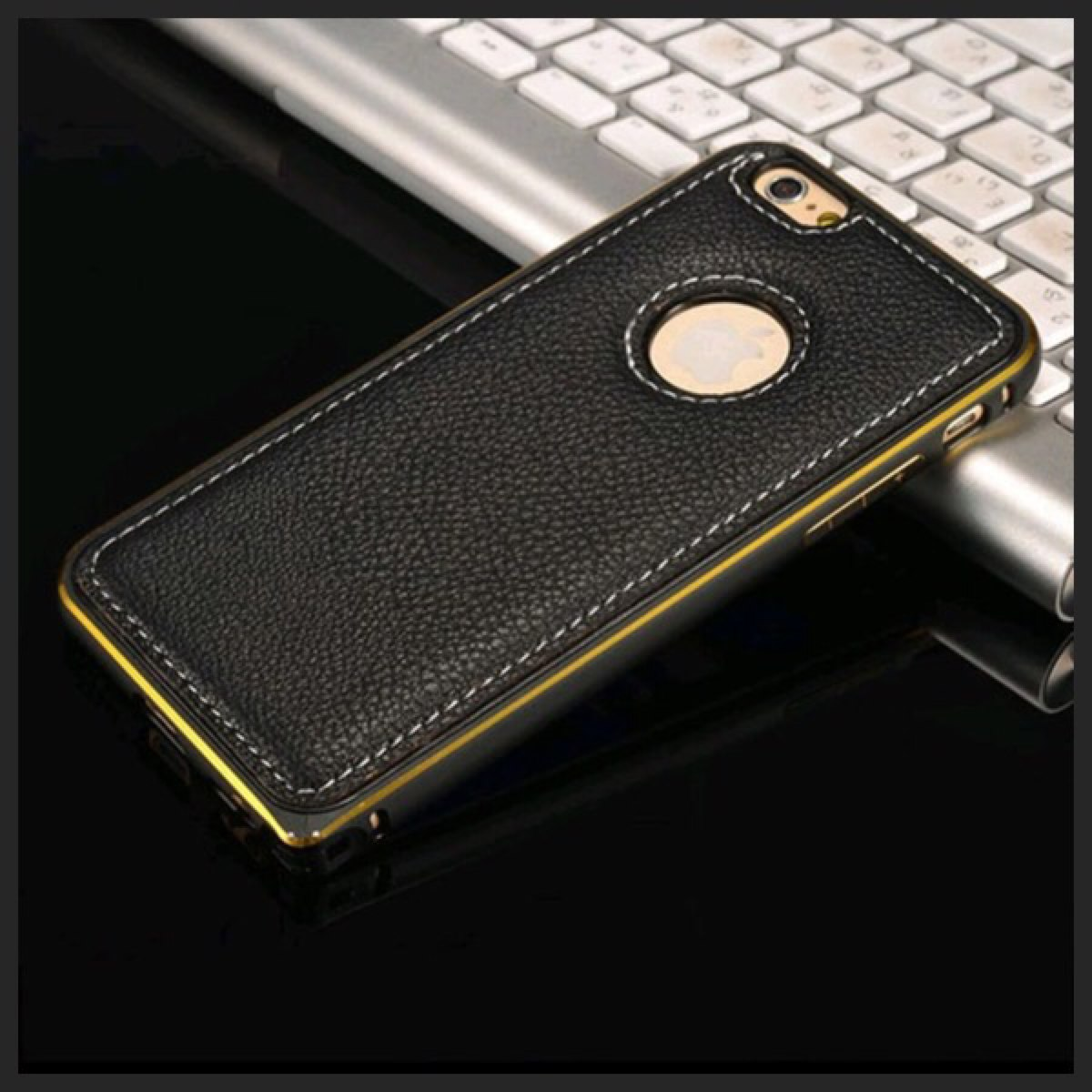 e1077df67ff Luxury Case Funda Bumper Aluminio Piel iPhone 6 6s - $ 190.00 en ...
