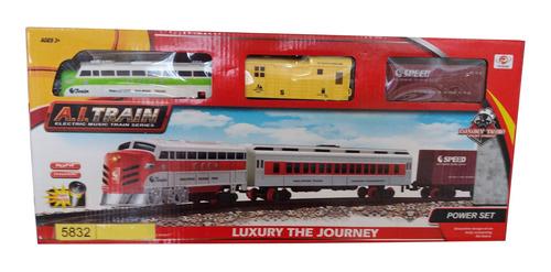 luxury  set tren a pila chico con  música y luces
