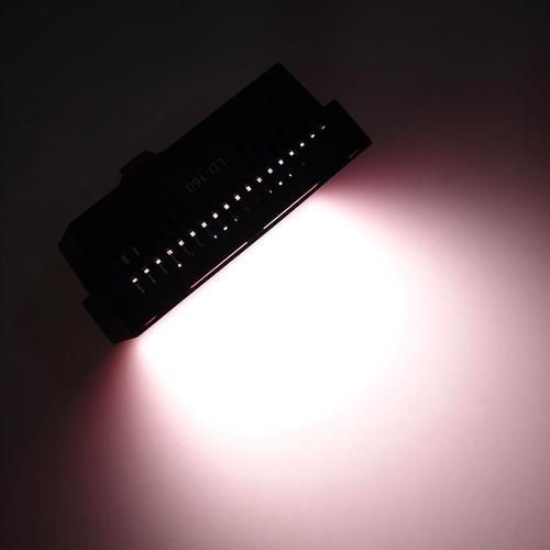 luz 160 led para fotografia video + 4 filtros color garantia