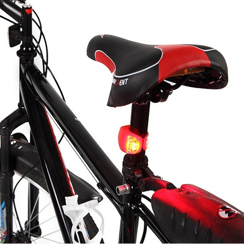 luz 2 pcs 3 modo impermeable erior bicicleta faro aviso