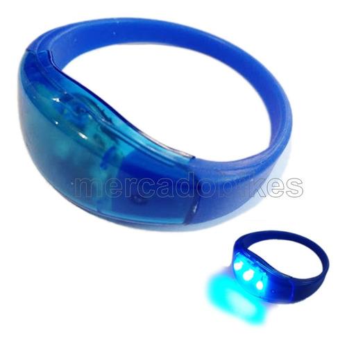 luz 3 leds azul banda de silicona - brazo / pierna con pilas