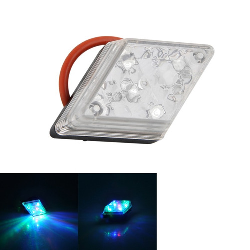 luz 5-led 7-modo rombo advertencia bicicleta lampara