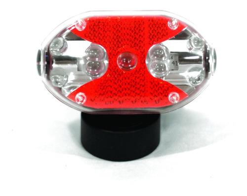 luz 9 led trasera bici bicolor flash intermitente funciones