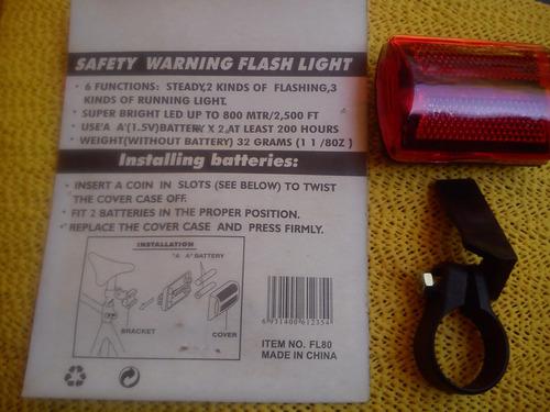 luz advertencia para ciclistas,coches niño, peatones etc