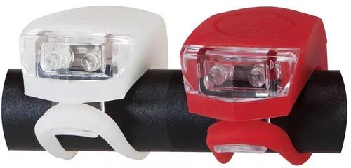 luz bicicleta de led delantera y trasera 3 modos siliconadas
