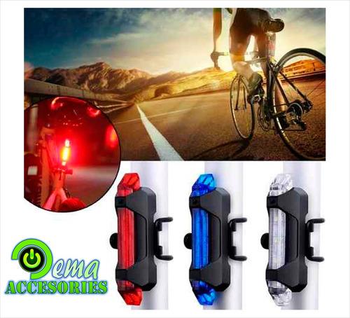 luz bicicleta recargable