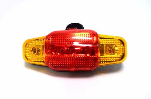 luz bicicleta trasera de seguridad led precaucion calidad !!