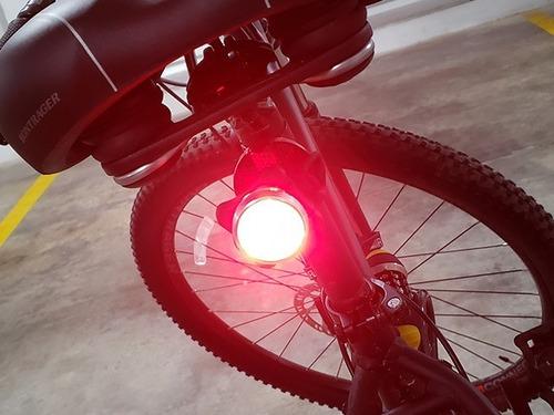 luz bicicleta trasera led usb destelladora gran calidad