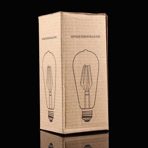 luz bola retro st led lm transparente shell bulbo blanco