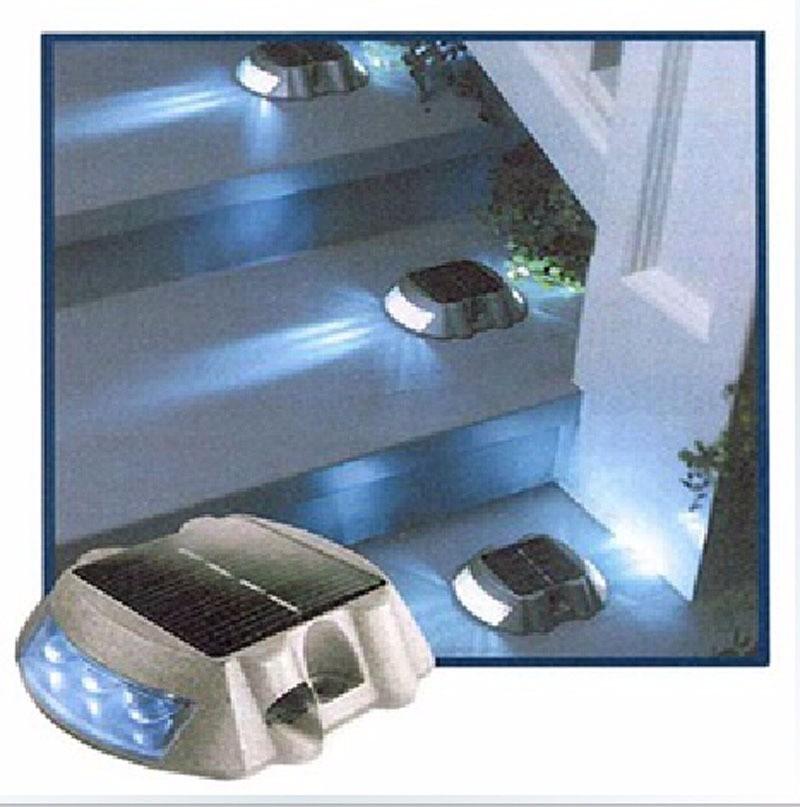 Luz c led e espelho solar p jardin e casa cx c 4 - Luz jardin solar ...