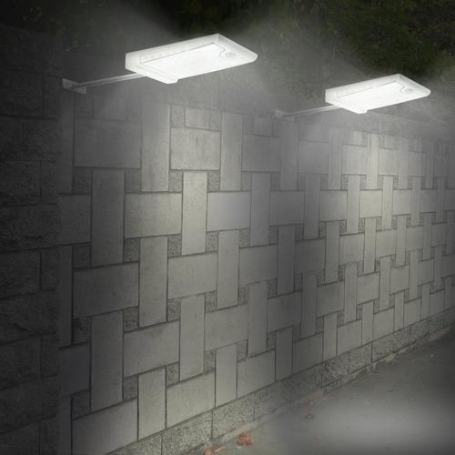 luz con 46 led 500 lúmenes panel solar y batería de litio