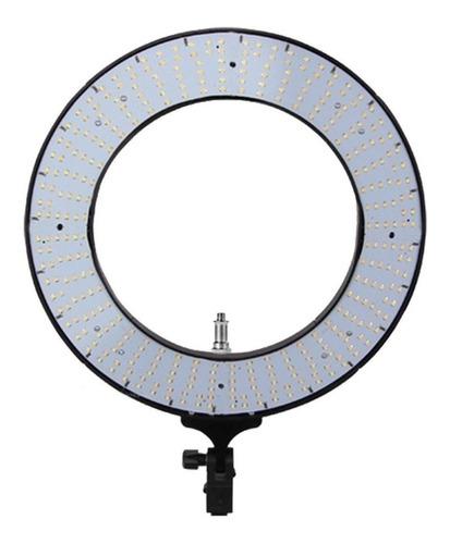 luz contínua easy ring 18  tipo aro cor branca quente e fria 110v/220v