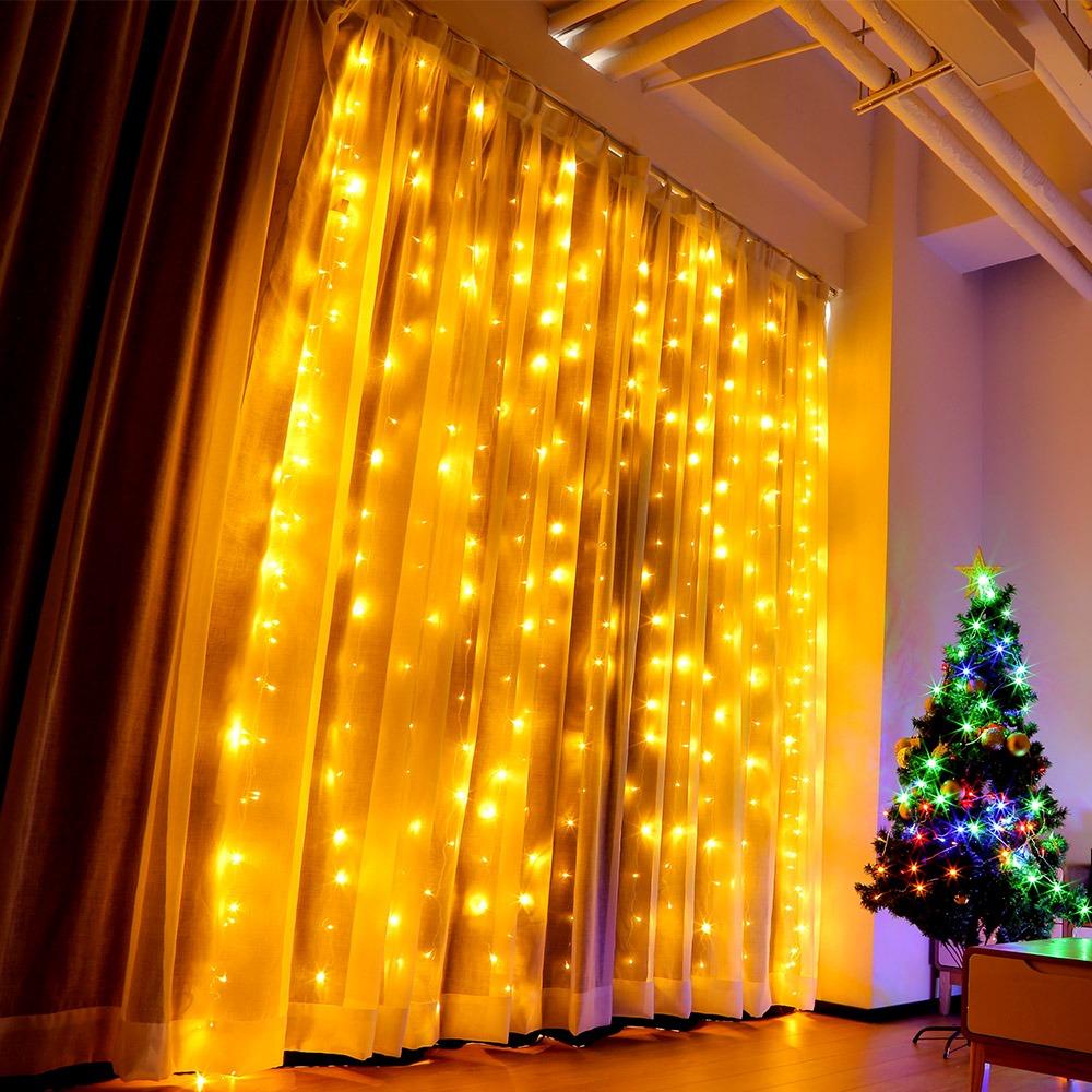 87ef002240e luz cortina ventana de 3 x 3m led para boda decoración navi. Cargando zoom.
