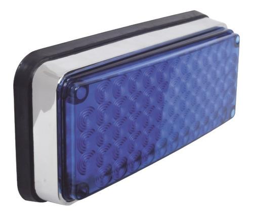 luz de advertencia de 6 x 4 pulg  color azul xlte595b epcom