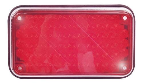 luz de advertencia de 6 x 4 pulg  color rojo xlte595r  epcom