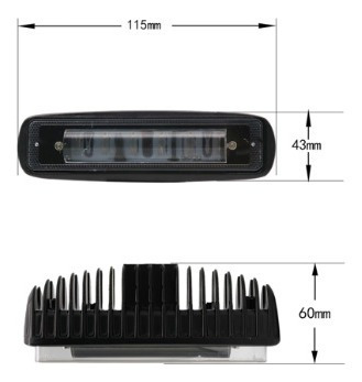luz de advertencia led para carretilla elevadora x 18w