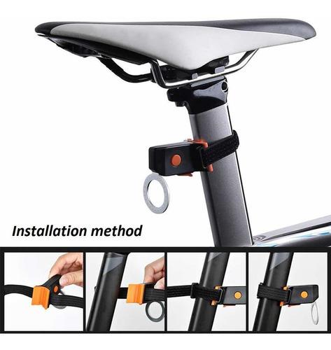 luz de bici trasera led aro recargable impermeable