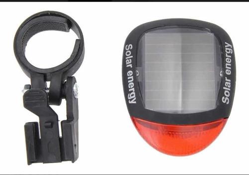 luz de bici trasera solar recargable