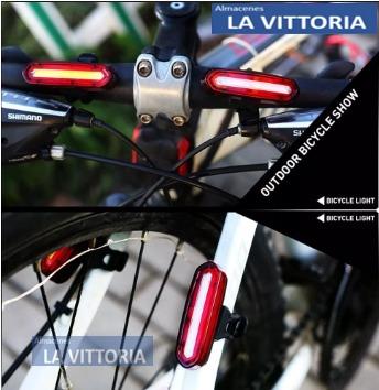 luz de bicicleta ultra brillante de 5 luces usb recargable