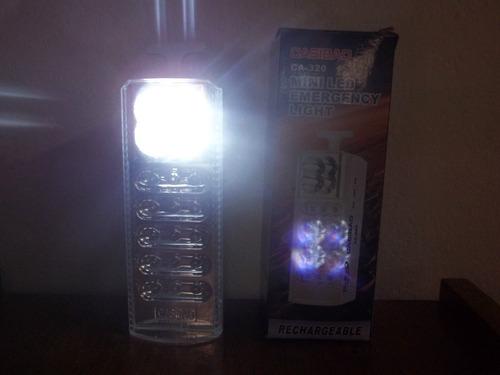 luz de emergencia 15 + 4 led recargable electricidad excelen