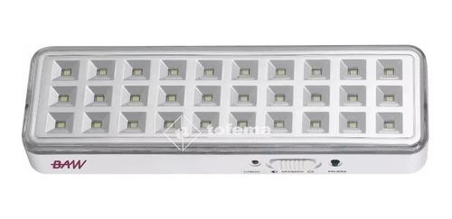 luz de emergencia 30 led recargable 6horas baw - tofema