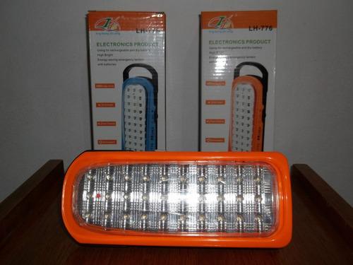 luz de emergencia 30 leds recargable electricidad excelente