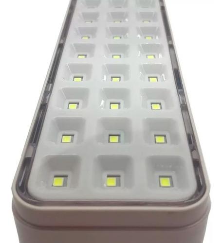 luz de emergencia 60 led pack x 4 bateria recargable usb