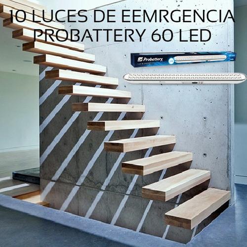 luz de emergencia 60 leds combo x 10 unidades
