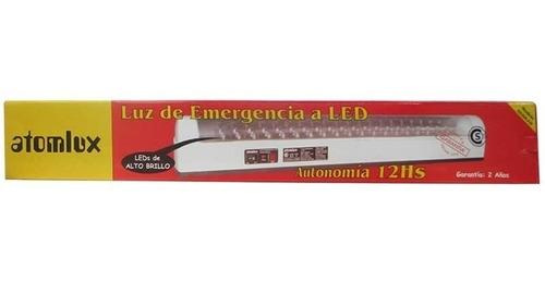 luz de emergencia atomlux 2020 60 leds 12 hs autonomía pc