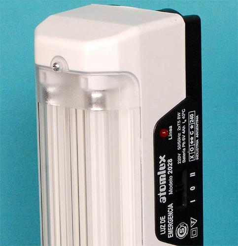 luz de emergencia atomlux 2028 2 tubos fluorescentes