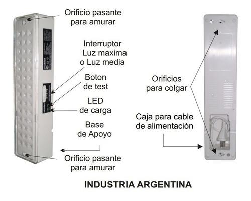 luz de emergencia atomlux 2045 42 leds hasta 30 hs autonomia