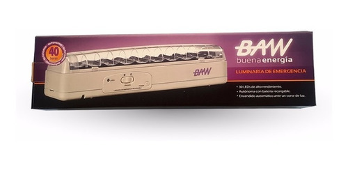 luz de emergencia led c/batería 30 leds 40 hs - baw - tofema