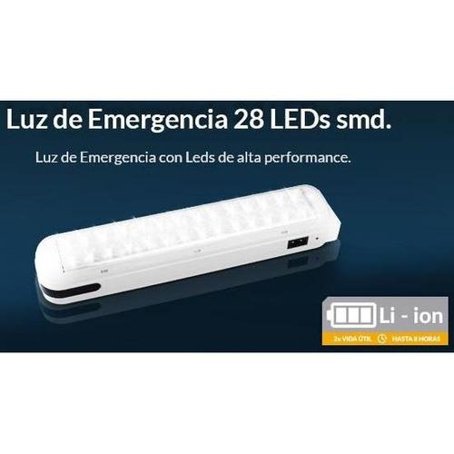 luz de emergencia led trv lde001 28 leds smd