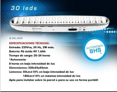 luz de emergencia probattery 30 led  8hs  autonomía