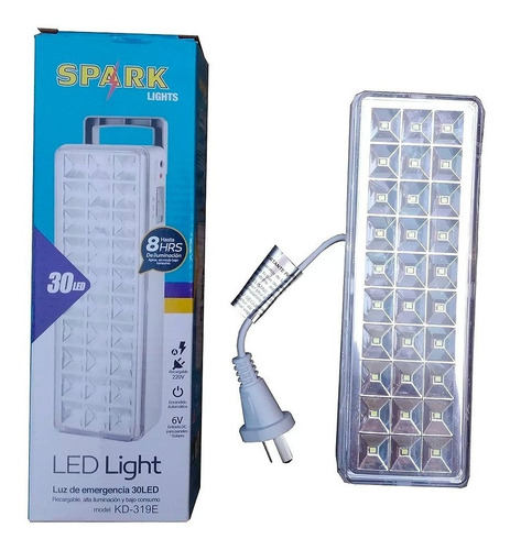 luz de emergenica spark 30 led