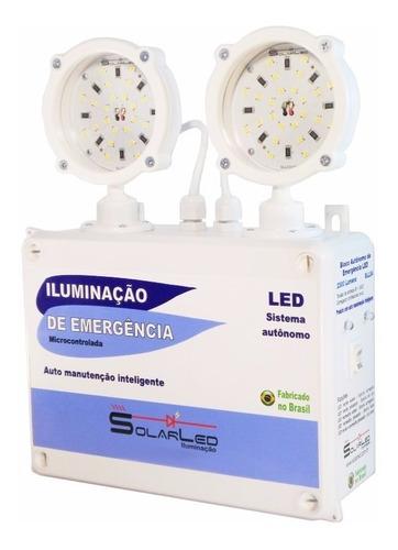 luz de emergência industrial 2300 lumens