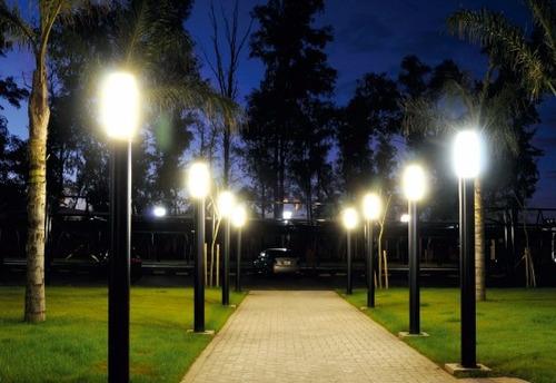 luz de jardin poste de alum x iluminacin parque exterior