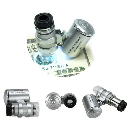 luz de led 60 x microscopio lupa lupa lupa handheld pocket m